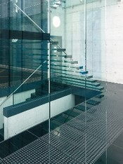 non-slip glass bottom