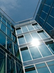 solar control glass office building
